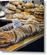 Bread Market Metal Print by Heather Applegate