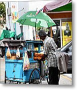 Bread Vendor Metal Print