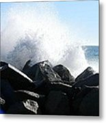Breaking Waves Metal Print