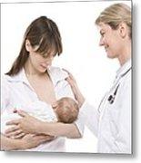 Breastfeeding Advice Metal Print by