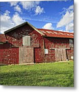 Breeze Hill Red Green And Blue Metal Print