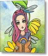 Brianna's Dragonflies Metal Print by Nora Blansett