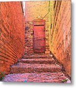 Old Stairs - Bisbee Az Metal Print