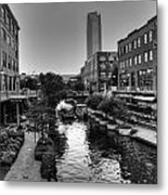Bricktown Canal Metal Print