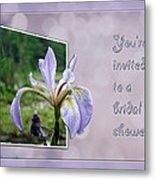 Bridal Shower Invitation - Blue Flag Iris Wildflower Metal Print