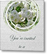 Bridal Shower Invitation - White Spirea Metal Print