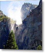 Bridalveil Falls In Yosemite Metal Print
