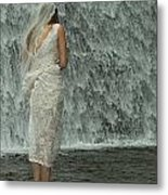 Bride Below Dam Metal Print