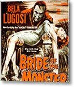 Bride Of The Monster, Bela Lugosi, 1955 Metal Print