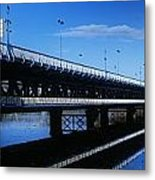 Bridge Across A River, Double-decker Metal Print