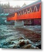 Bridge Across The Ammonoosuc River Metal Print