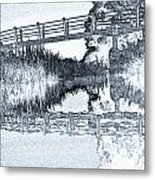Bridge Across The River Metal Print