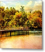 Bridge At Cypress Park Metal Print