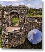 Bridge At Leeds Castle Metal Print