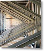 Bridge Geometry Metal Print