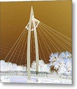 Bridge Iced Metal Print by David Alvarez