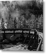 Bridge In Mud Volcano Area Metal Print
