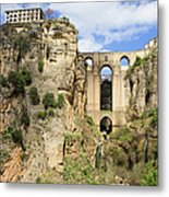 Bridge In Ronda Metal Print