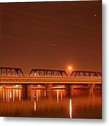 Bridge In The Mist Metal Print