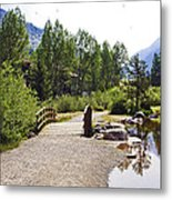 Bridge In Vail - Colorado Metal Print