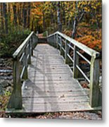 Bridge Into Autumn Metal Print