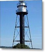 Bridge Lighthouse Metal Print