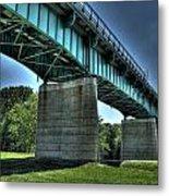 Bridge Of Blue Metal Print by Heather  Boyd