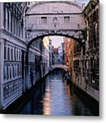 Bridge Of Sighs And Morning Colors In Venice Metal Print