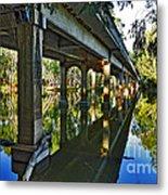 Bridge Over Ovens River Metal Print by Kaye Menner