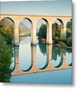Bridge Over The River Durance In Sisteron, France Metal Print by Kirill Rudenko