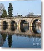 Bridge Over The River Thames Metal Print