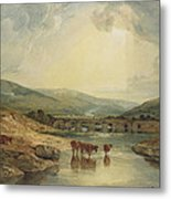 Bridge Over The Usk Metal Print