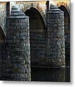 Bridge Pillars Metal Print