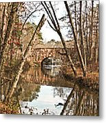Bridge Reflections Metal Print