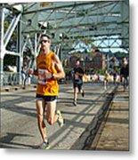 Bridge Runner Metal Print