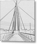 Bridge Sketch Metal Print by David Alvarez