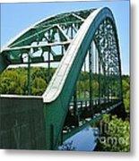 Bridge Spanning Connecticut River Metal Print