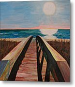 Bridge To Beach Metal Print