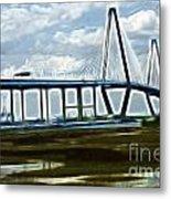 Bridge To Charleston Metal Print
