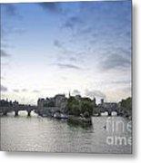 Bridges On River Seine. Paris. France Metal Print