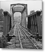 Bridging The River Metal Print