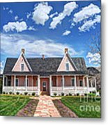 Brigham Young Forest Farm Home Metal Print