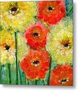 Bright Colored Flowers Shine Metal Print