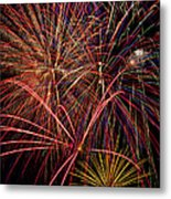 Bright Colorful Fireworks Metal Print