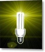 Bright Idea, Conceptual Artwork Metal Print