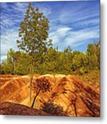 Bright Light On The Badlands Metal Print
