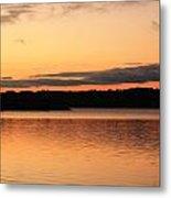 Bright Morning Skies On The Lake Metal Print