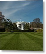 Bright Spring Day At The White House Metal Print