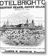 Brighton Beach Hotel, 1880 Metal Print