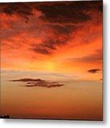 Brilliant Sunrise Over Montevideo Metal Print